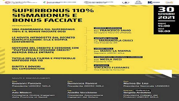 Webinar – 30/06/2021 – Superbonus 110%